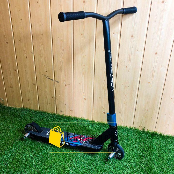 Самокат для трюков Best Scooter колеса алюминий 110 мм с пегами (синий с серым)