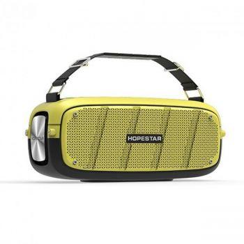Беспроводная портативная мощная bluetooth колонка Sound System A20 Hopestar 55ВТ с Влагозащитой IPX6 желтая