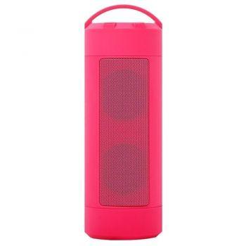 Беспроводная портативная мощная bluetooth колонка JEDEL WAVE-118 с влагозащитой IPX7 розовая