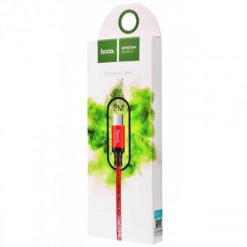 USB кабель Hoco X14 Times Speed Micro USB Cable 1м для android нейлоновая оплетка  красный