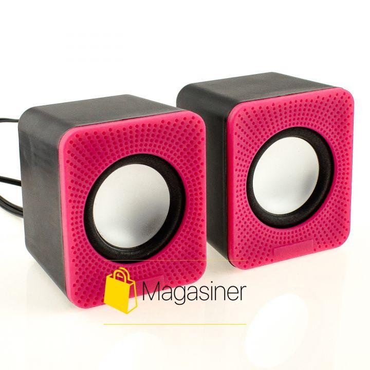 Мини колонки проводные SPS Mini Digital Dpeaker D-oia розовые (199-tg)