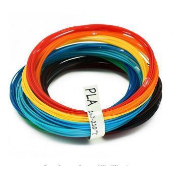 Набор PLA-пластика для 3D-ручки Plast 1.75 мм из 12ти цветов. (12_PLA_60м)