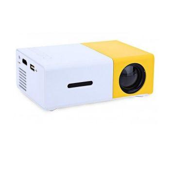 Портативный светодиодный мультимедийный мини проектор Led Projector YG300 с динамиком Универсальный медиаплеер с разрешением 1920х1080P для дома и офиса