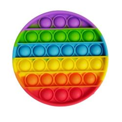 Антистресс сенсорная игрушка Pop It Круг Силиконовая Поп Ит Push Up Bubble Разноцветная