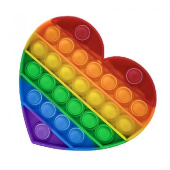 Антистресс сенсорная игрушка Pop It Сердце Силиконовая Поп Ит Push Up Bubble Разноцветная