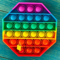 Антистресс сенсорная игрушка Pop It Восьмиугольник Силиконовая Поп Ит Push Up Bubble Разноцветная