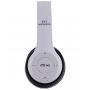 Беспроводные накладные Bluetooth наушники UKC Supero P47 с радио и MP3 плеером белые