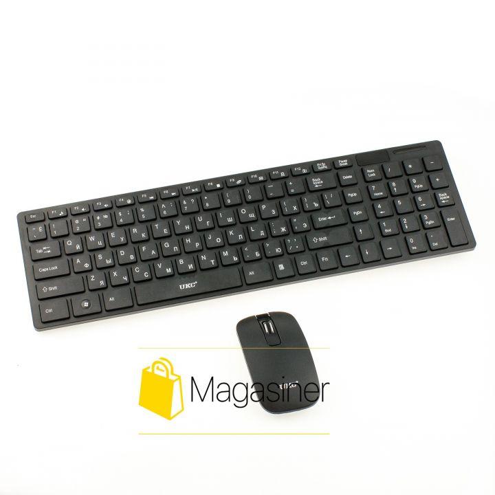 Беспроводный комплект клавиатура и мышка UKC K06 черная (320-tg)