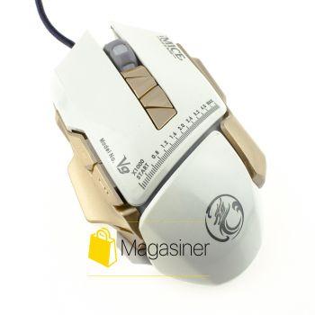 Мышь проводная Estone IMICE V9 3200 DPI Gaming белая (322-tg)