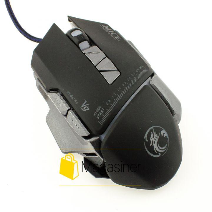 Мышь проводная Estone IMICE V9 3200 DPI Gaming черная (323-tg)