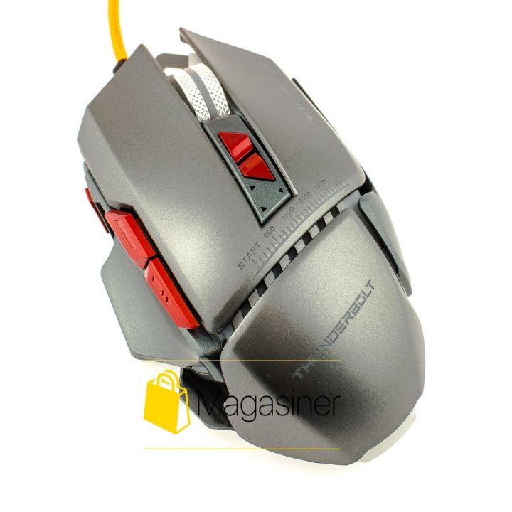 Мышь проводная AQUIPMENT MASTER 8D IMICE 2400 DPI Gaming  серая (324-tg)