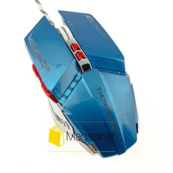 Мышь проводная AQUIPMENT MASTER 8D IMICE 2400 DPI Gaming синяя (327-tg)