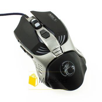 Мышь проводная Estone IMICE V5 3200 DPI Gaming  черная (329-tg)
