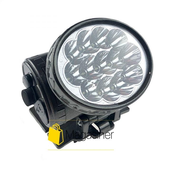 Налобный светодиодный фонарик YJ-1898 для кемпинга, рыбалки (343)