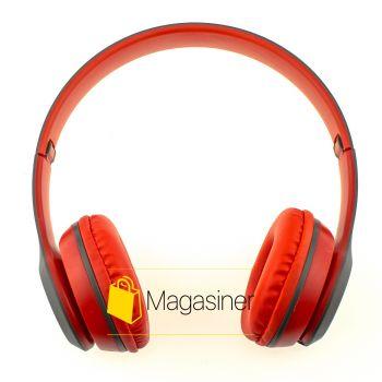 Беспроводные Bluetooth наушники UKC P47 красные (346-tg)