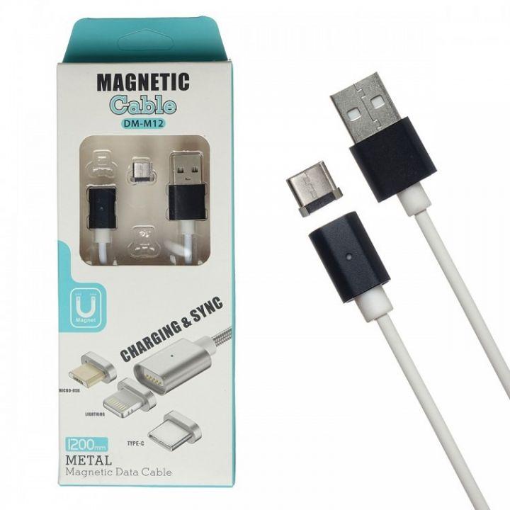 Магнитный USB кабель Magnetic Data Cable DM-M12 Micro USB 1м для android