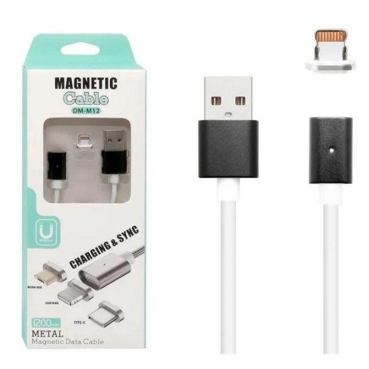 Магнитный USB кабель Magnetic Data Cable DM-M12 Lightning usb iphone 1м для айфона