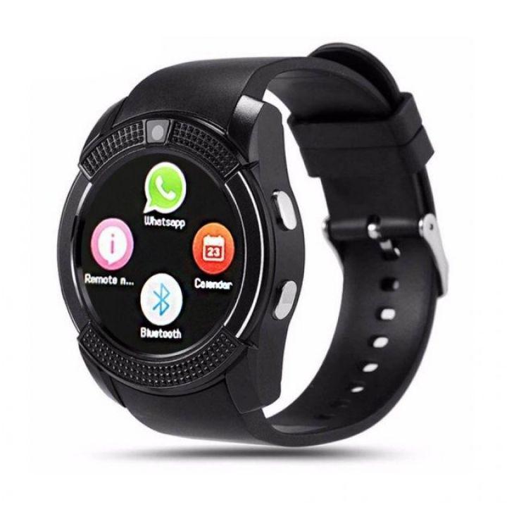 Умные смарт часы с функцией фитнес браслета Smart watch V8 мужские сенсорные спортивные часы