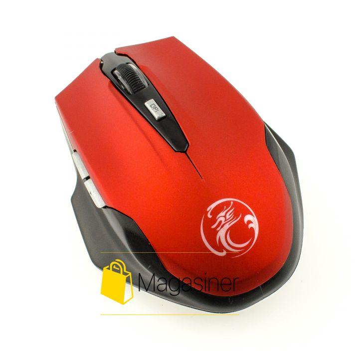 Мышь беспроводная оптическая IMICE E-1900 2000dpi красная (378-tg)