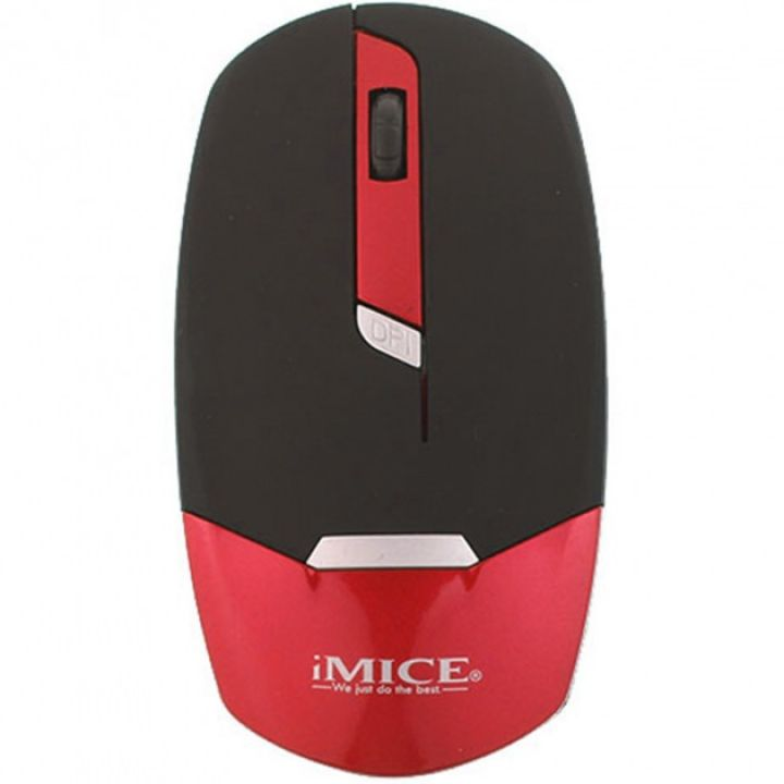 Игровая безпроводная мышка IMICE E-2330 1600dpi мышь оптическая компьютерная геймерская черно-красная