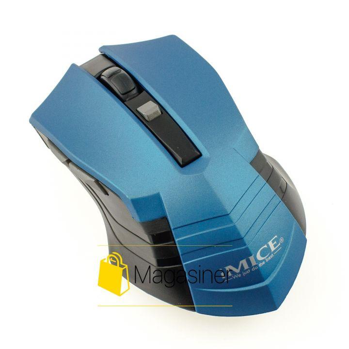 Мышь беспроводная оптическая IMICE E-2310 1600dpi синяя (380-tg)