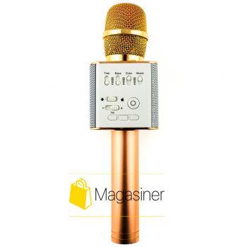 Беспроводной караоке микрофон MagicMusic Q9 Original Roze Gold (381-tg)