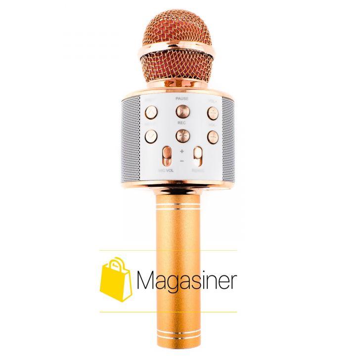 Беспроводной караоке микрофон MagicMusic WS-858 Original Roze Gold (389-tg)