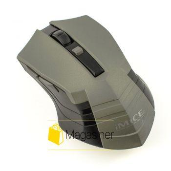 Мышь беспроводная оптическая IMICE E-2310 1600dpi серая (390-tg)