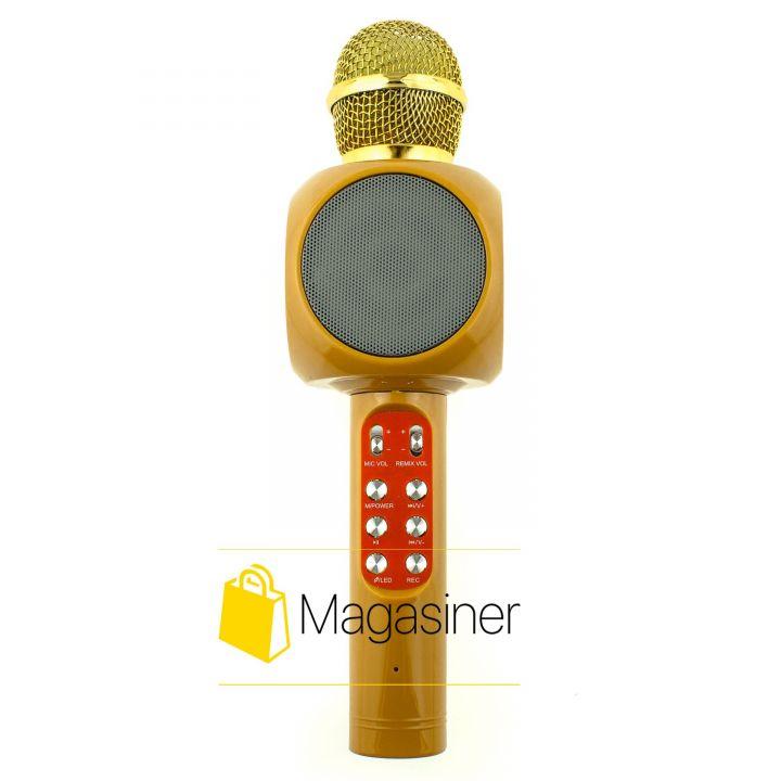 Микрофон караоке беспроводной Wster WS-1816 бежевый (410-tg)