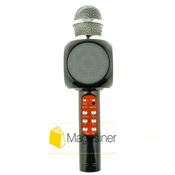 Микрофон караоке беспроводной Wster WS-1816 черный (411-tg)