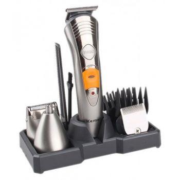 Триммер с насадками Kemei KM-580A аккумуляторная машинка для стрижки волос и бороды 7 в 1