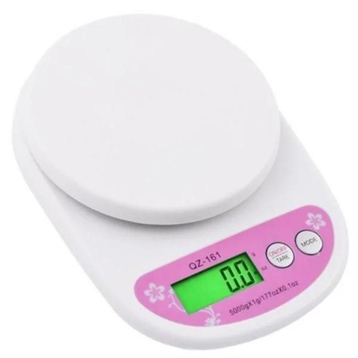 Кухонные электронные весы 5 кг Electronic Kitchen Scale QZ-161 точные весы для продуктов погрешность 1 г белые