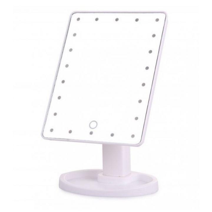 Профессиональное сенсорное зеркало для макияжа с LED подсветкой Magic Makeup White