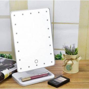 Косметическое настольное зеркало для макияжа с подсветкой 16 LED Touch Mirror белое (439)