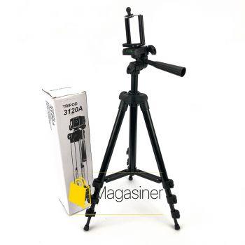 Компактный штатив трипод Tripod 3120 черный тренога для экшн камер, смартфонов, телефонов и видеокамер (461-tg)