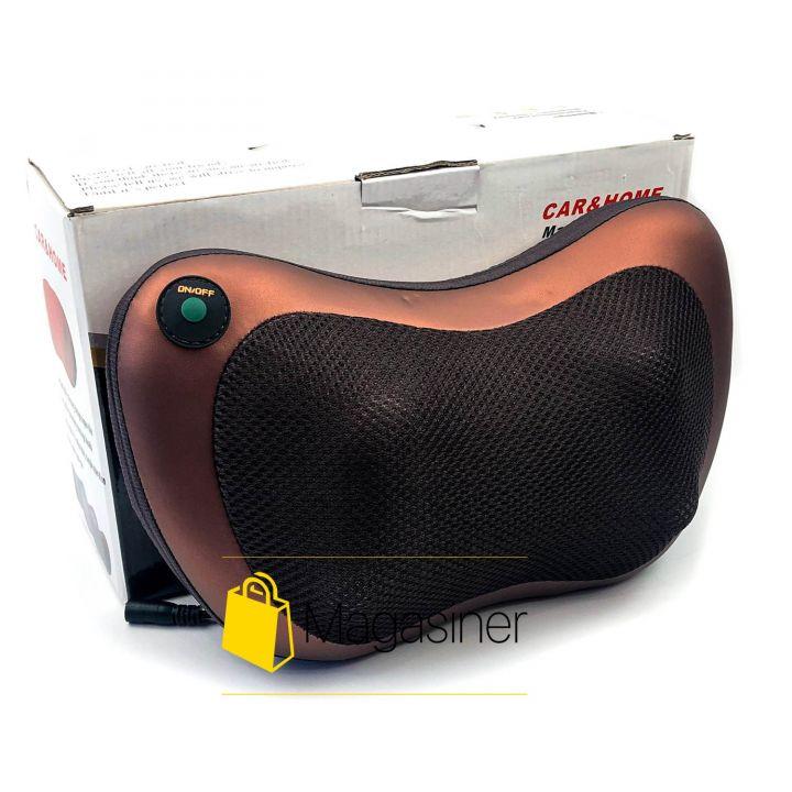Портативный роликовый массажер для авто и дома HOME CAR MASAGE PILLOW DL29 8028 массажная подушка (465)
