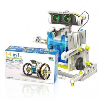 Электронный конструктор робот Solar Robot Original 14 в 1 на солнечных батареях