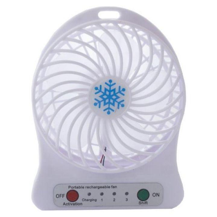 Портативный настольный мини вентилятор Portable Fan Mini Fan 3-х скоростной USB белый