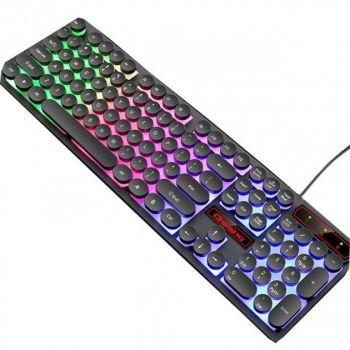 Игровая клавиатура с подсветкой RIAS M300 проводная геймерская keyboard для ПК Черная