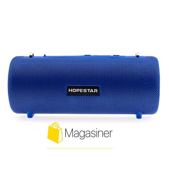 Оригинальная портативная Bluetooth колонка H39 Hopestar синяя (542-tg)