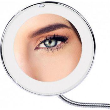 Гибкое косметическое настольное зеркало для макияжа с подсветкой  Ultra Flexible Mirror с увеличением 10X сенсорное гримерное