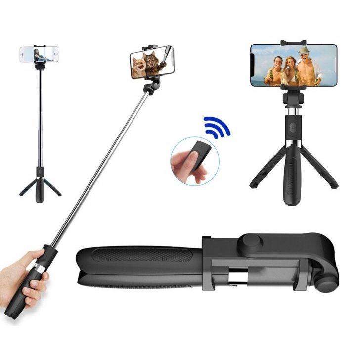 Штатив для телефона 3в1 Selfie Stick L01 монопод-тренога держатель телефона пульт Bluetooth L01S селфи палка