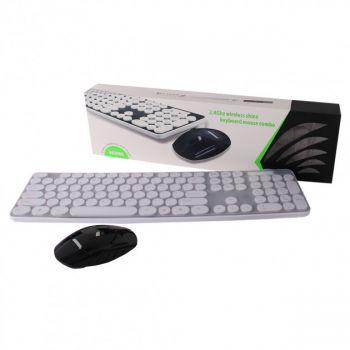 Беспроводный комплект клавиатура и мышка HK3960 геймерский комплект черный