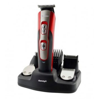Профессиональный Триммер GEEMY PROFESSIONAL HAIR CLIPPER Машинка для стрижки волос с насадками для бороды, носа и ушей Red