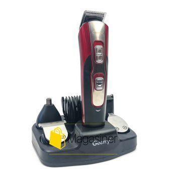 Триммер с насадками Gemei GM-592 аккумуляторная машинка для стрижки волос и бороды 10 в 1 (637)