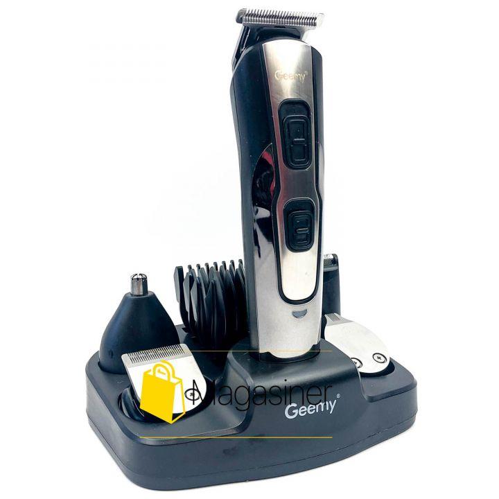 Триммер с насадками Gemei GM-592 аккумуляторная машинка для стрижки волос и бороды 10 в 1 (638)