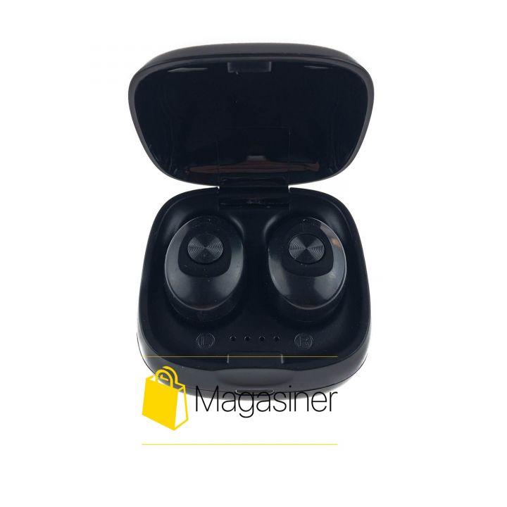 Беспроводные Bluetooth наушники mini TWS XG-12 BT5.0 с кейсом черные (655)