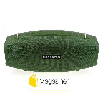 Оригинальная портативная Bluetooth колонка Hopestar X с микрофоном темно-зеленая (703-tg)