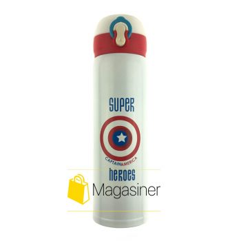 Детская термокружка Super Heroes Captain America супергерои капитан америка (706)