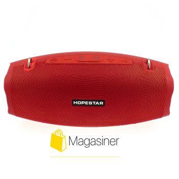Оригинальная портативная Bluetooth колонка Hopestar X с микрофоном красная (713-tg)